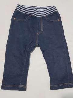 Celana jeans bahan kaos merk Uniqlo
