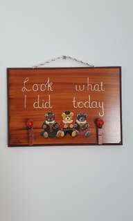 Hand painted Craft wood