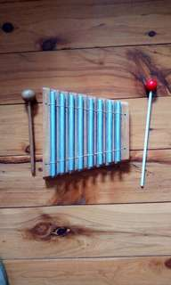 8 note energy chrome metal pipe xylophone