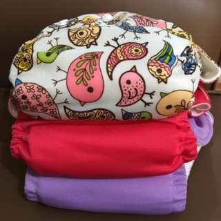Cloth Diapers (1 Charlie Banana & 2 Bamboo Dappie)