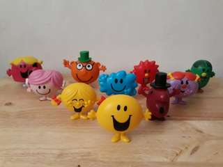 Mr. Men & Little Miss happy meal collectibles
