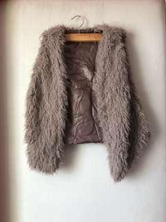 WAGW faux fur sleeveless vest