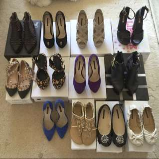 Range of women's shoes. Size 5 and 5.5