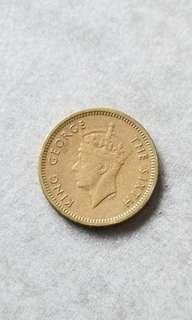 1949年香港伍仙硬幣