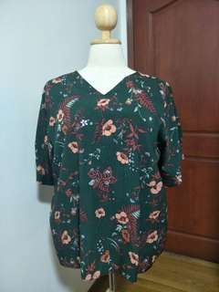 Preloved Plus Size Floral Top