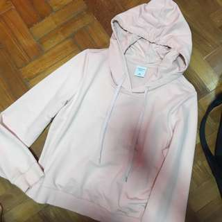 NWOT yishion baby pink hoodie / pullover
