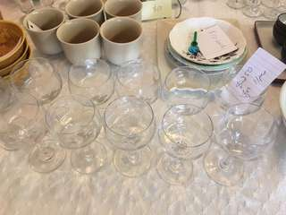 Vintage wine glasses set of 11