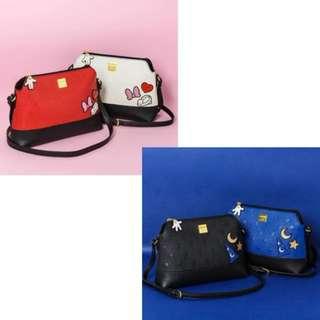 Pre-Order BN Colors By Jennifer Sky Spring 2018 Mickey/Minnie Zip Embossed Sling Bag