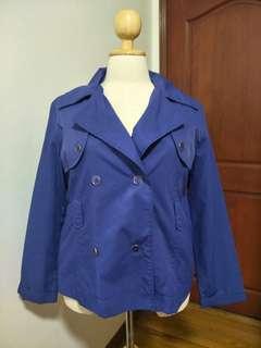 Preloved Plus Size Short Raincoat