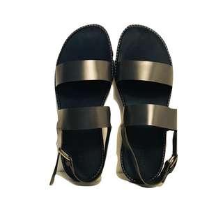 Jil Sander Navy Sole Grey Strap Mens Sandal