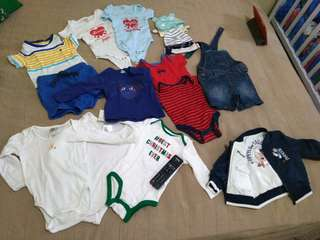Clothes for baby boy 1300 all including the play gro