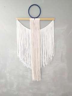 Wall yarn hanging.