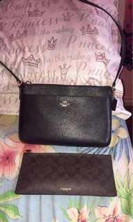 Coach sling with wallet