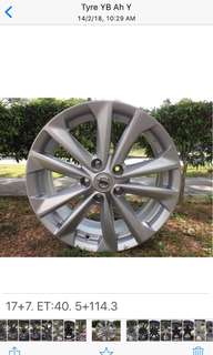 17in PCD 5-114.3 Original Nissan Rims On Offer Sale