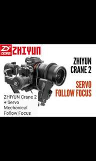 ZhiYun Crane 2 + ZhiYun Servo Mechanical Follow Focus