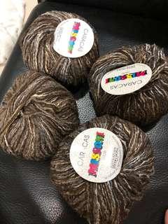 意大利混色毛冷(毛缐 yarn)$40/4個