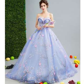 Gown Collection - Fantasy Blue Purple Tube Style Design Little Elegant Gown