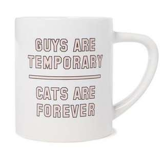 Brand New TYPO MUG: Guys are Temporary Cats are Forever