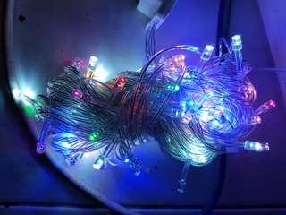 Lampu natal 100 led/ lampu natal 7 warna / lampu natal 10m/ lampu natal