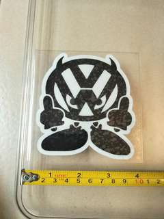 Volkswagen car decals for glass, (rare)