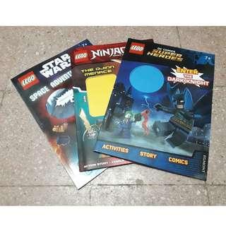 3 LEGO Books (activities*story*comics)