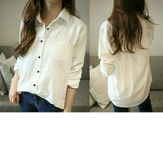 hi kem taeyon basic putih gil  bahan twiscone fit to L
