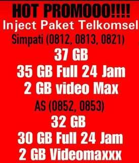 Kuota internet paket data telkomsel voucher simpati as promo sale murah paketan termurah 37gb 4g 3g