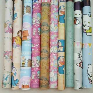 10 x Brand New Cute Cartoon Gift Wrappers