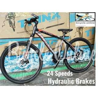 "Hydraulic brakes! Crolan MTB / Mountain Bikes ☆ 26"", 24 Speeds ☆ Brand New Bicycles"