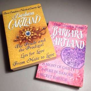 BARBARA CARTLAND THREE COMPLETE NOVELS