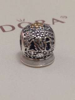 Pandora Charm 14k gold and silver