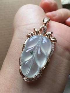 18K鑽石天然A貨冰葉一套