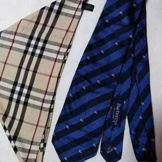 Authentic Burberry Stripe Necktie,Burberry Checkerd Handkerchief