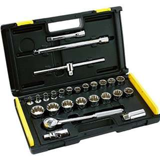 Stanley 26 Pcs.1/2 In. Drive Metric Socket Set