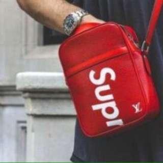 LV /Supreme Shoulder Bag