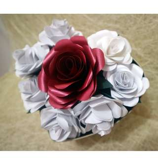 Mother's Day Hand-made Paper Flower - Heart-shaped (IG: @kokorokara.crafts)