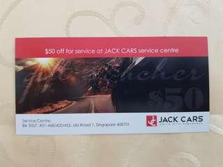 $50 off Jack Car service