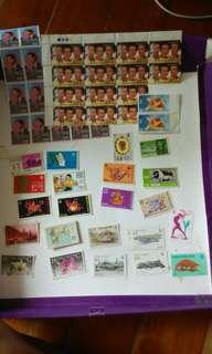 香港舊郵票皇儲亢麗,生肖,李小龍