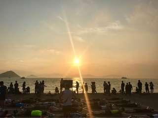 。西環碼頭的日落。