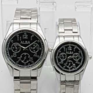 Jam tangan alba couple