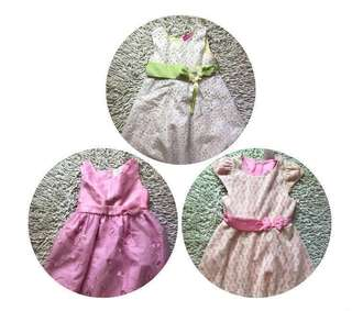 Take all 3 brand new dresses - Pink, Yellow