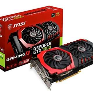 MSI 1060GTX gaming x 6gb