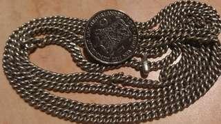 Vintage Peranakan Silver coin belt