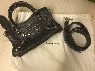 Brand New Balenciaga Bag - classic mini  textured leather tote in grey