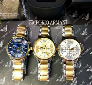 Emporio armani ⌚⌚⌚  100% authentic 100% pawnable in selected pawnshops Complete with box, manual,paper bag  Pm for order with foto