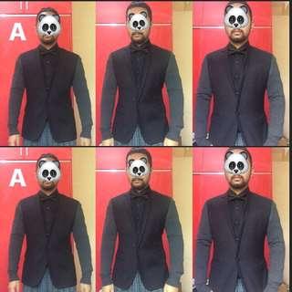 Ramp Man Stylish Balck and Gray Suit