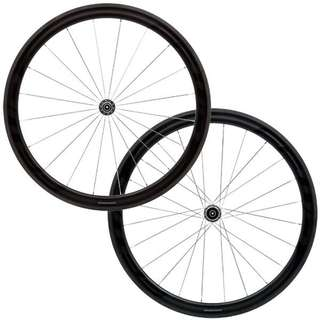 Fast Forward FFWD F4R DT240 Chrome Edition Clincher Carbon Wheelset Tyre Bundle