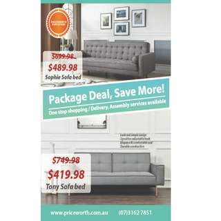 Brand new sofa bed on sale