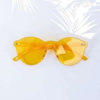 Kacamata/ Sungglasess jelly retro yellow