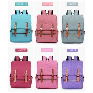 Large Korean Canvas Backpack Satchel Travel Bag